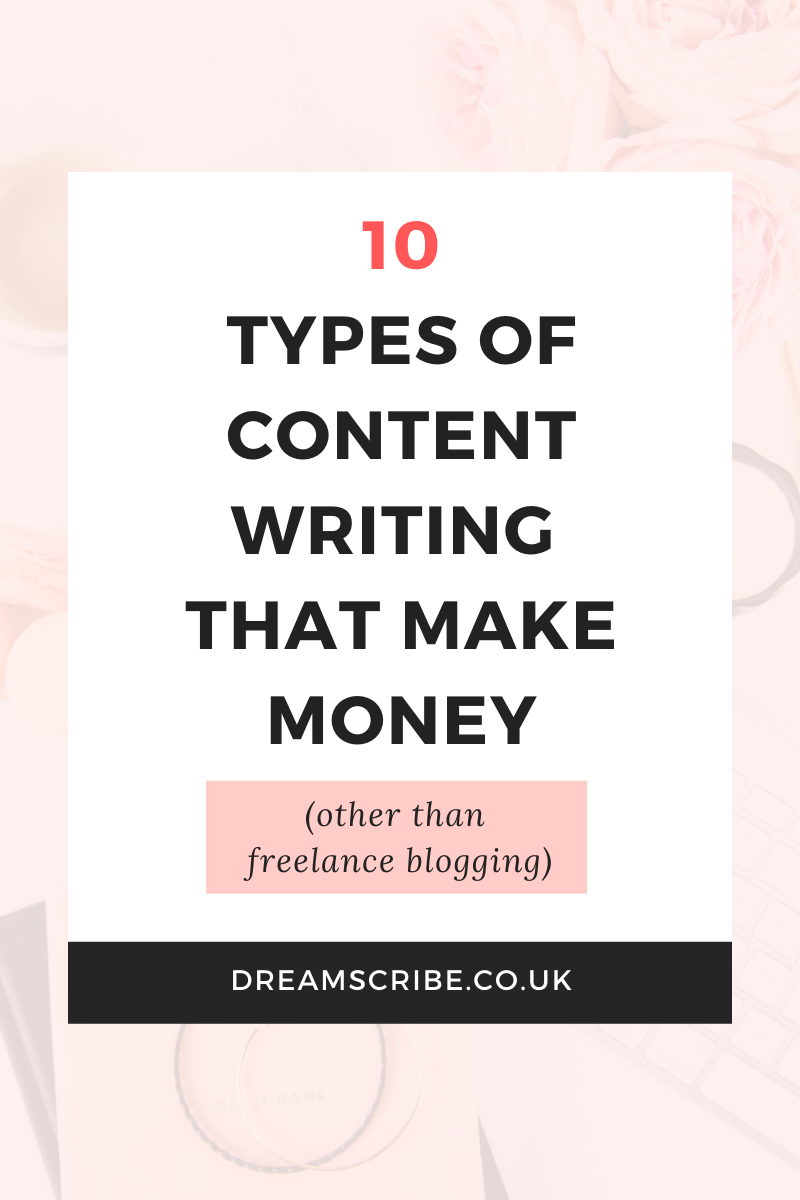 10 Types of Content Writing That Make Money