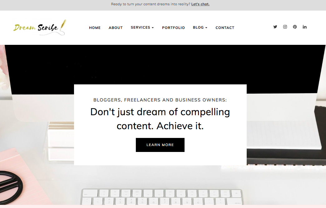 Freelance Writing Portfolio Website