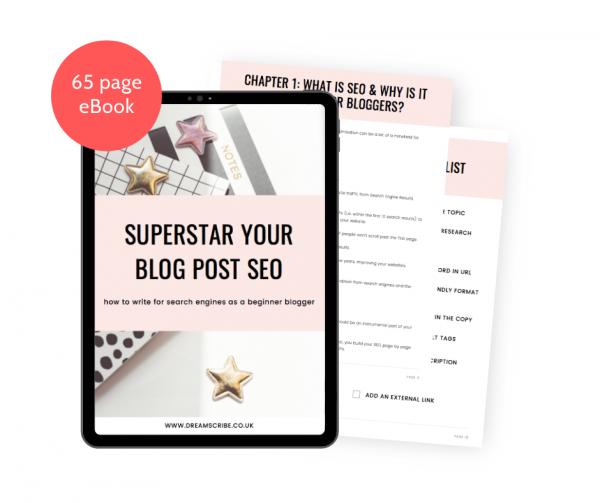 Superstar Your Blog Post SEO eBook Mockup